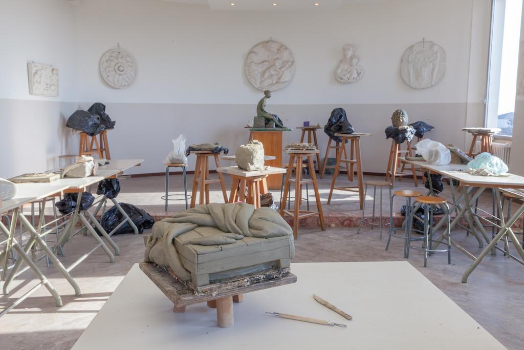 Laboratorio delle discipline plastiche del Liceo Foppa Brescia